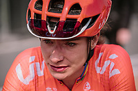 Marianne Vos at the finish of <br /> 16th Ronde Van Vlaanderen<br /> <br /> Elite Womans Race (1.WWT)<br /> <br /> One day race from Oudenaarde to Oudenaarde<br /> ©Jojo Harper for Kramon