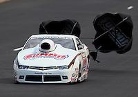 Jul. 19, 2014; Morrison, CO, USA; NHRA pro stock driver Greg Anderson during qualifying for the Mile High Nationals at Bandimere Speedway. Mandatory Credit: Mark J. Rebilas-