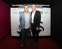 """Pictured L-R: Director Marc Evans and music composer Mal Pope.  Friday 12 September 2014<br /> Re: Premiere of """"Jack To A King"""" a film about the history of Swansea City Football Club, at The Empire Cinema in Leicester Square, London, UK."""