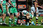 Dejected Manawatu during the Mitre 10 Cup Ranfurly Shield Rugby Match between Taranaki and Manawatu at Yarrow Stadium, New Plymouth, Auckland,  New Zealand. Wednesday 11th October 2017. Photo: Simon Watts / www.bwmedia.co.nz