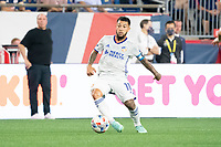 FOXOBOROUGH, MA - AUGUST 21: Luciano Acosta #11 of FC Cincinnati during a game between FC Cincinnati and New England Revolution at Gillette Stadium on August 21, 2021 in Foxoborough, Massachusetts.