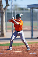Jesse Guevara (54), from San Francisco, California, while playing for the Orioles during the Under Armour Baseball Factory Recruiting Classic at Red Mountain Baseball Complex on December 28, 2017 in Mesa, Arizona. (Zachary Lucy/Four Seam Images)
