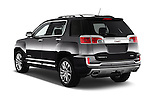 Car pictures of rear three quarter view of 2016 GMC Terrain Denali 5 Door SUV Angular Rear