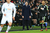 Swansea City manager Paul Clement during the Premier League match between Swansea City and Bournemouth at the Liberty Stadium, Swansea, Wales, UK. Saturday 25 November 2017