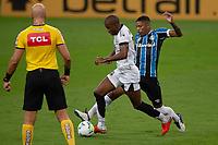 14th November 2020; Arena de Gremio, Porto Alegre, Brazil; Brazilian Serie A football league, Gremio versus Ceara; Jean Pyerre of Gremio is held off by Fabinho of Ceara