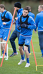 St Johnstone Training…..21.10.16<br />Danny Swanson pictured during training ahead of Sunday's game against local rivals Dundee with Joe Shaughnessy<br />Picture by Graeme Hart.<br />Copyright Perthshire Picture Agency<br />Tel: 01738 623350  Mobile: 07990 594431