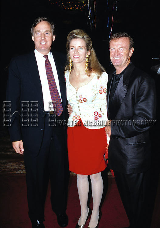 Robert Trump with his wife Blaine Trump and Peter Allen Attending a Birthday celebration for his brother Donald Trump at the Trump Castle in Atlantic City, New Jersey.<br />