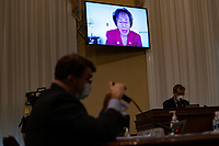 United States Representative Nita Lowey (Democrat of New York) participates remotely in a hearing with the US House Appropriations Subcommittee on Military Construction, Veterans Affairs, and Related Agencies on Capitol Hill in Washington DC, on May 28th, 2020.<br /> Credit: Anna Moneymaker / Pool via CNP/AdMedia