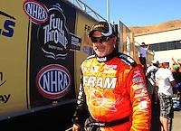 Jul. 18, 2010; Sonoma, CA, USA; NHRA top fuel dragster driver Cory McClenathan during the Fram Autolite Nationals at Infineon Raceway. Mandatory Credit: Mark J. Rebilas-