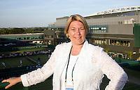 30-6-08, England, Wimbledon, Tennis,  KNLTB voorzitter Karin van Bijleveld