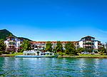 Deutschland, Bayern, Oberbayern, Tegernseer Tal, Rottach-Egern am Tegernsee: Seehotel Ueberfahrt | Germany, Bavaria, Upper Bavaria, Tegernseer Valley, Rottach-Egern at Lake Tegern: Seehotel Ueberfahrt
