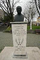 Statue of Turkish feminist Halide Edip Adivar in Istanbul, Turkey