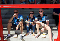 Wycombe Wanderers fans before the Sky Bet League 2 match between Crawley Town and Wycombe Wanderers at Broadfield Stadium, Crawley, England on 6 August 2016. Photo by Alan  Stanford / PRiME Media Images.