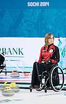 Sonja Gaudet, Sochi 2014 - Para Ice Hockey // Para-hockey sur glace.<br /> Canada's Wheelchair Curling Team practices before the games begin // L'équipe canadienne de curling en fauteuil roulant s'entraîne avant le début des Jeux. 07/03/2014.