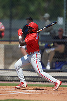 Philadelphia Phillies left fielder Cornelius Randolph (2) during a minor league Spring Training game against the Pittsburgh Pirates on March 24, 2017 at Carpenter Complex in Clearwater, Florida.  (Mike Janes/Four Seam Images)