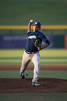 AZL Brewers starting pitcher Brayan Salaya (10) delivers a pitch during an Arizona League game against the AZL Cubs 1 at Sloan Park on June 29, 2018 in Mesa, Arizona. The AZL Cubs 1 defeated the AZL Brewers 7-1. (Zachary Lucy/Four Seam Images)