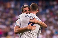 Real Madrid's player Nacho and Sergio Ramos during the XXXVII Santiago Bernabeu Trophy in Madrid. August 16, Spain. 2016. (ALTERPHOTOS/BorjaB.Hojas) /NORTEPHOTO