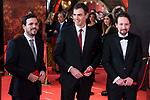 Alberto Garzon, Pedro Sanchez and Pablo Iglesias attends red carpet of Goya Cinema Awards 2018 at Madrid Marriott Auditorium in Madrid , Spain. February 03, 2018. (ALTERPHOTOS/Borja B.Hojas)
