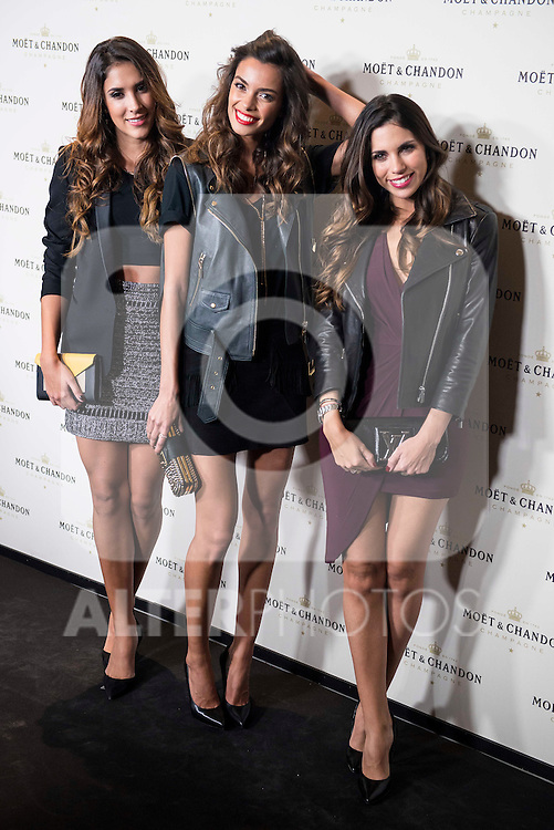 """Daniela Ospina (L), Joana Sanz (C) and Melissa Jimenez attends to the photocall of the party """"OpenTheNow of Moët & Chandon in Madrid, December 02, 2015<br /> (ALTERPHOTOS/BorjaB.Hojas)"""