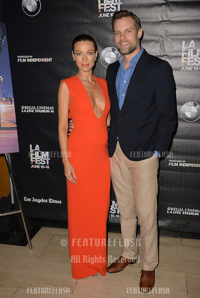"""Natalie Zea & husband Travis Schuldt at the premiere of """"Too Late"""", part of the LA Film Festival, at the Bing Theatre at LACMA.<br /> June 11, 2015  Los Angeles, CA<br /> Picture: Paul Smith / Featureflash"""