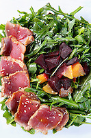 seared tuna and rocket salad