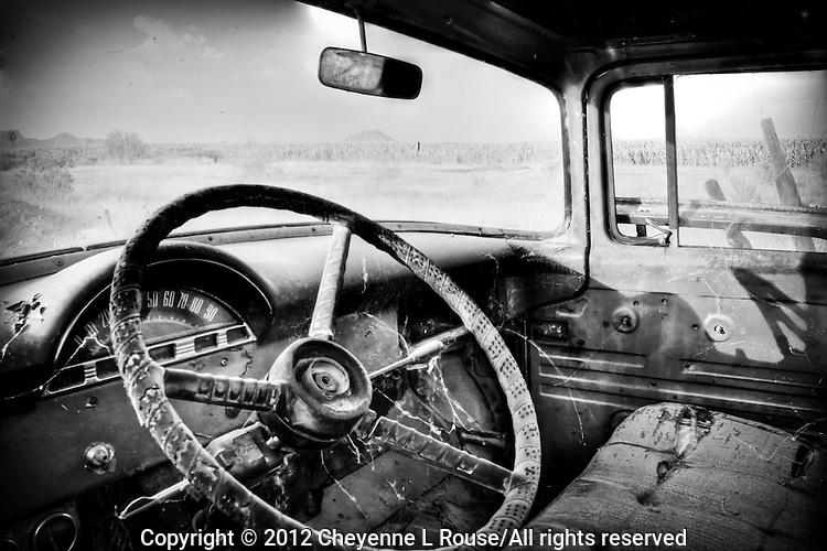 Old Ford Truck interior - Arizona