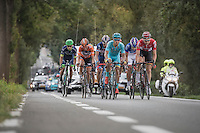 Tim Wellens (BEL/Lotto-Soudal) sets the tempo in the breakaway group<br /> <br /> 12th Eneco Tour 2016 (UCI World Tour)<br /> Stage 7: Bornem › Geraardsbergen (198km)
