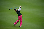 Han Sol Ji of South Korea plays a second shot at the 15th hole during Round 3 of the World Ladies Championship 2016 on 12 March 2016 at Mission Hills Olazabal Golf Course in Dongguan, China. Photo by Victor Fraile / Power Sport Images