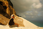 .Coralian sand dunes of Erher, north esat coast. Socotra island. Yemen.