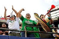 Mexico (MEX)  fans celebrate. Mexico (MEX) defeated the United States (USA) 5-0 during the finals of the CONCACAF Gold Cup at Giants Stadium in East Rutherford, NJ, on July 26, 2009.