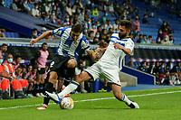 22nd September 2021: RCDE Stadium, Barcelona, Spain: La Liga Football, Espanyol versus Atletico Madrid;  Oscar Gil takes on Duarte