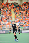 The Hague, Netherlands, June 10: Marcus Child #13 of New Zealand in action during the field hockey group match (Men - Group B) between New Zealand and The Netherlands on June 10, 2014 during the World Cup 2014 at Kyocera Stadium in The Hague, Netherlands. Final score 1-1 (0-1) (Photo by Dirk Markgraf / www.265-images.com) *** Local caption ***