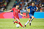 Bayern Munich Midfielder Franck Ribery (L) plays against Chelsea Midfielder Cesc Fabregas (R) during the International Champions Cup match between Chelsea FC and FC Bayern Munich at National Stadium on July 25, 2017 in Singapore. Photo by Weixiang Lim / Power Sport Images