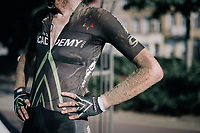 Zak Dempster (AUS/Israel Cycling Academy) after finishing<br /> <br /> 92nd Schaal Sels 2017 <br /> 1 Day Race: Merksem > Merksem (188km)