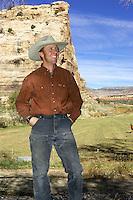 ..John Tomac on his  Ranch , Cortez , Colorado   November 2004..pic © Steve Behr / Stockfile