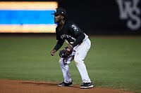 Winston-Salem Dash second baseman Jeremiah Burks (4) on defense against the Asheville Tourists at Truist Stadium on September 17, 2021 in Winston-Salem, North Carolina. (Brian Westerholt/Four Seam Images)