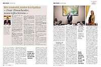 L'Express (main French news magazine).2012/06/16 - Iulia Tymochenko - European football Cup..Photos: Pierre Marsaut