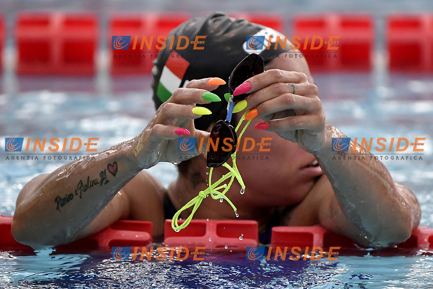 Martina Rita Caramignoli of Italy reacts after competing in the women 1500m freestyle during the 58th Sette Colli Trophy International Swimming Championships at Foro Italico in Rome, June 25th, 2021. Martina Rita Caramignoli placed second.<br /> Photo Andrea Staccioli/Insidefoto/Deepbluemedia