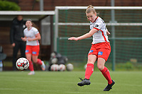 Laura Vervacke (20) of Zulte Waregem  pictured during a female soccer game between SV Zulte - Waregem and Eendracht Aalst on the 9 th matchday in play off 2 of the 2020 - 2021 season of Belgian Scooore Womens Super League , saturday 22 nd of May 2021  in Zulte , Belgium . PHOTO SPORTPIX.BE | SPP | DIRK VUYLSTEKE