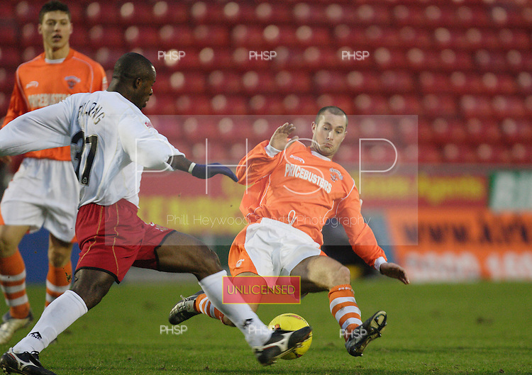 2051 Coid tackle.Blackpool v MK Dons