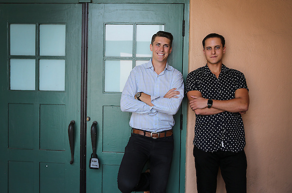 August 29, 2017. Point Loma, CA. USA. |Cody Barbo, right and Daniel Goldstein, co-founders of Trust & Will. |Photos by Jamie Scott Lytle. Copyright.