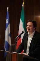 Montreal , CANADA -  Nov 21,  2014 - Maxime laporte, President,  Societe Saint-Jean-Baptiste du Quebec,<br /> <br /> Photo :  Agence Quebec Presse - Pierre Roussel
