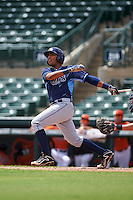 Tampa Bay Rays Rafelin Lorenzo (89) during an instructional league game against the Baltimore Orioles on September 25, 2015 at Ed Smith Stadium in Sarasota, Florida.  (Mike Janes/Four Seam Images)