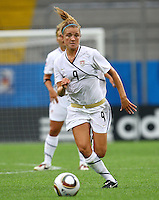 USA's Kristie Mewis during the FIFA U20 Women's World Cup at the Rudolf Harbig Stadium in Dresden, Germany on July 17th, 2010.
