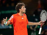 07-05-10, Tennis, Zoetermeer, Daviscup Nederland-Italie, Robin Haase