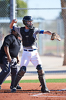 Cameron Anderson (51), from Pequot Lakes, Minnesota, while playing for the Indians during the Under Armour Baseball Factory Recruiting Classic at Red Mountain Baseball Complex on December 29, 2017 in Mesa, Arizona. (Zachary Lucy/Four Seam Images)
