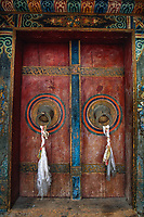 Doors at Jiuli monastery.