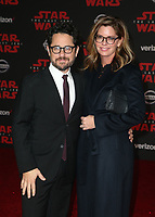 LOS ANGELES, CA - DECEMBER 9: J.J. Abrams and Katie McGrath at the World Premiere of Lucasfilm's Star Wars: The Last Jedi at The Shrine Auditorium in Los Angeles, California on December 9, 2017.  Credit: Faye Sadou/MediaPunch /NortePhoto.com NORTEPHOTOMEXICO