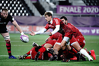 16th October 2020, Stade Maurice David, Aix-en-Provence, France;  Challenge Cup Rugby Final Bristol Bears versus RC Toulon;  Baptiste Serin (RC Toulon) plays the ball from bottom of the ruck