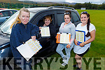 Denise Burns, Linda Moriarty, Philomena and Joanne Quilligan all ready for the Drive in Bingo in John Mitchels on Sunday.